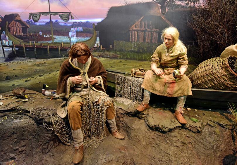Viking fishermen at JORVIK Viking centre
